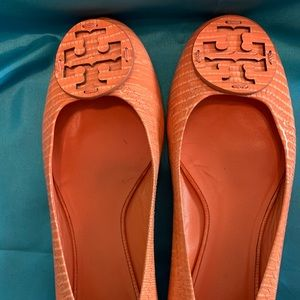 Tory Burch Coral Animal Lizard Reva Size 9.5